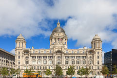 The Port of Liverpool Building. On Liverpool waterfront is one of the 'Three Graces' at the Pier Head, Liverpool, England.  It forms part of a UNESCO World Stock Photo