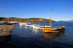 The port lligat at Cadaqués. Port Lligat is a small village located in a small bay which in front the house if Salvador Dal Royalty Free Stock Photo