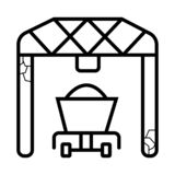Port loader icon stock illustration