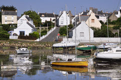 Port of Locmiquélic in brittany - France Royalty Free Stock Image