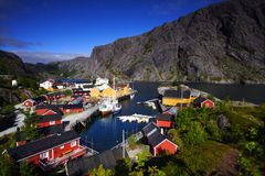 Port of the lofoten Royalty Free Stock Images