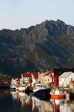 A port in the lofoten islands Stock Photography