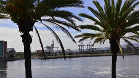 Port of Long Beach stock footage