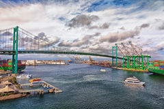 Port of Los Angeles. A view of the port of Los Angeles Stock Photography