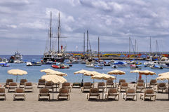 Port of Los Cristianos at Tenerife Royalty Free Stock Image