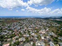PORT-LOUIS, ÎLES MAURICE - 28 NOVEMBRE 2015 : Vue de paysage de Port-Louis en Îles Maurice Près de Belle Etoile Photo libre de droits