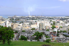 Port Louis. View over Port Louis, capital of Mauritius island Royalty Free Stock Photo