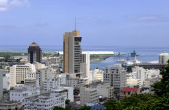 Port Louis. View over Port Louis, capital of Mauritius island Royalty Free Stock Photography