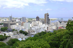 Port Louis. Capital of Mauritius island Royalty Free Stock Image
