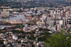 Port Louis aereo Mauriitus fotografia stock libera da diritti