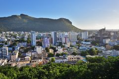 Port Louis die Hauptstadt von Mauritius Stockfotos