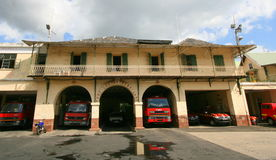 Port Louis Fire Station Stock Image