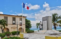 Port Louis, Guadalupe, Francia - puede 10 2010: tribunal viejo Imagen de archivo libre de regalías