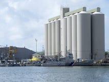 Port Louis harbour, Mauritius stock images