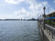 Port Louis harbour, Mauritius Royalty Free Stock Image