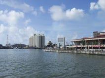 Port Louis harbour, Mauritius stock image