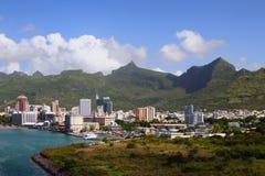 Port Louis - huvudstad av Mauritius Arkivfoto