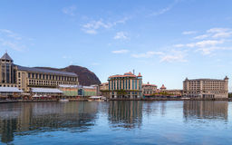 Port louis le caudan waterfront capital of Mauritius Stock Image