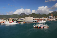 Port Louis - main port of Mauritius Royalty Free Stock Photo