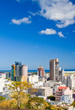 Port Louis Mauritius. City skyline over blue sky Stock Photo