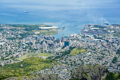 Port Louis Mauritius. City skyline over blue sky Royalty Free Stock Photos