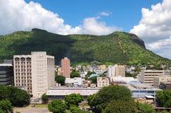 Port Louis por la montaña Fotos de archivo libres de regalías