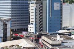 Port-Louishuvudstad av Mauritius affärshorisont Arkivbild