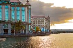 Port- Louiskapital von Mauritius Stockfotos