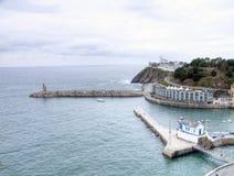 Port of Luarca. Province of Asturias in Spain Stock Image