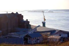 Port lub fabryka Obraz Stock