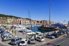 Port Lympia à Nice dans les Frances photo libre de droits