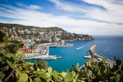 Port Lympia as seen from Colline du Chateau - Nice, France Royalty Free Stock Photo