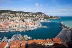 Port Lympia i stad av Nice royaltyfri foto