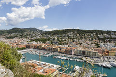 Port Lympia in Nice, aerial view Royalty Free Stock Photography