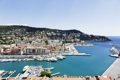 Port Lympia in Nice, France, aerial view Stock Photo