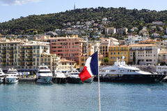 Port Lympia in Nice in France Stock Photos