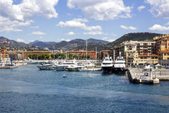 Port Lympia in Nice, France Stock Photography
