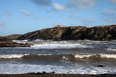 Port Lynas. And rough seas off the Isle of Anglesey North Wales UK Royalty Free Stock Photography