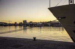 Port Málaga. Photography of a sunset in Málaga port Stock Photo