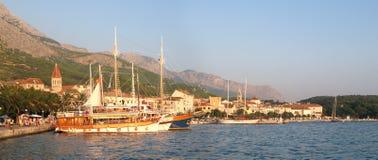 Port in Makarska Royalty Free Stock Image