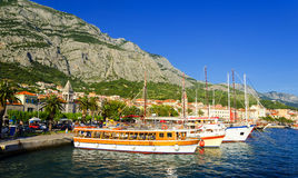 Port in Makarska in Dalmatia, Croatia Stock Photos