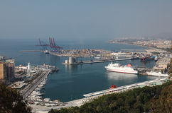 Port of Malaga, Andalusia Spain Stock Photos