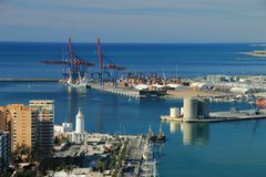 Port Malaga, Hiszpania Fotografia Stock