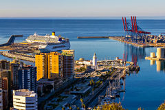 Port of Malaga, Spain Stock Photography