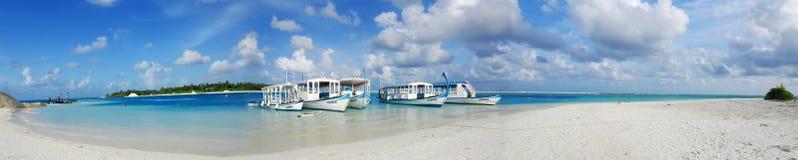 Port maldivien Image libre de droits