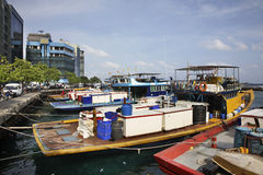 Port in Male. Republic of the Maldives Royalty Free Stock Images