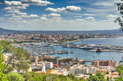 Port of  Mallorca. Panoramica of the Port of Palma de Mallorca Royalty Free Stock Image