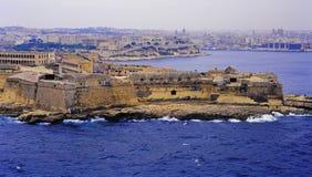 Port Malta island. City view of the La Valletta, the harbor island of malta Stock Photo