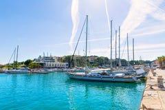 Port Manacor Majorque de marina de Majorca Porto Cristo Photographie stock libre de droits
