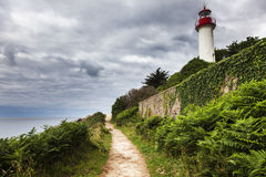 Port Manec'h Lighthouse Stock Image